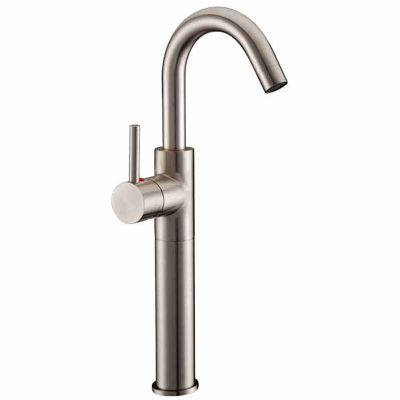 Brushed Nickel Hot and Cold Single Handle Basin Faucet